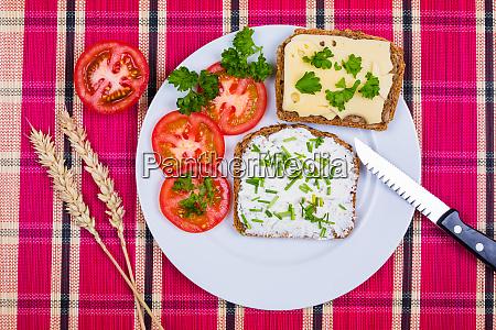 healthy breakfast on a plate