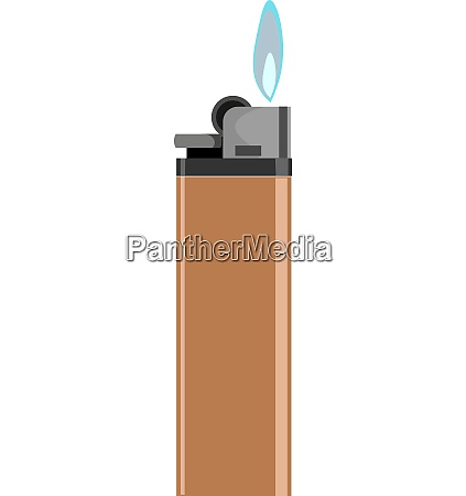 glowing lighter vector or color illustration