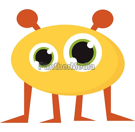 monster with four legs vector or