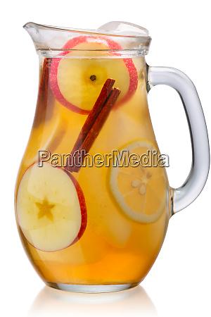 iced apple cinnamon lemonade jug paths