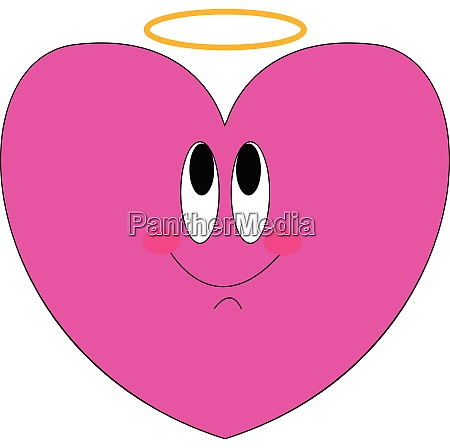 a beautiful pink heart vector or