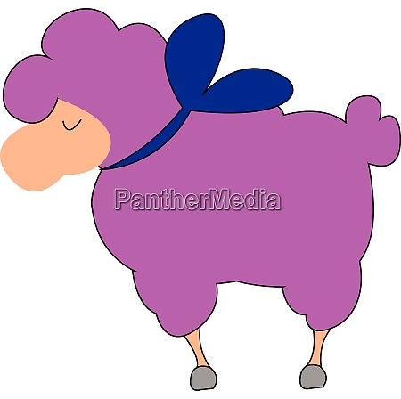 a furry pink lamp vector or