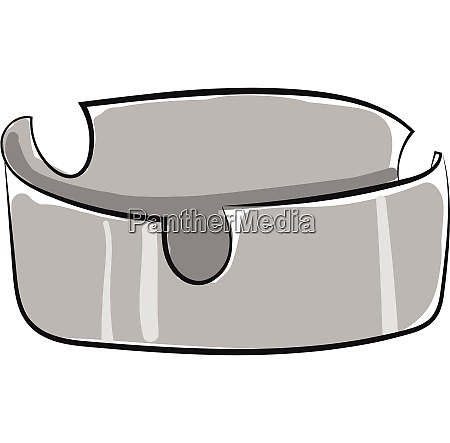 a grey colored ashtray vector or