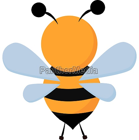 clipart of a bee set on