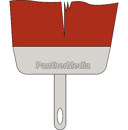 a big red color paintbrush for