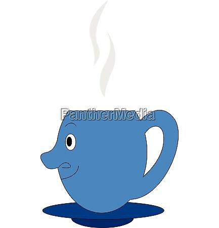 emoji of a blue coffee cup