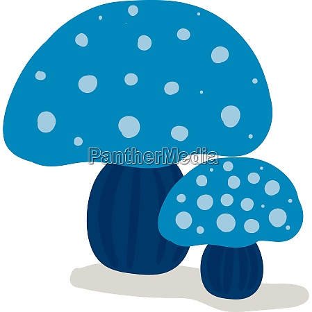 clipart of two beautiful blue colored