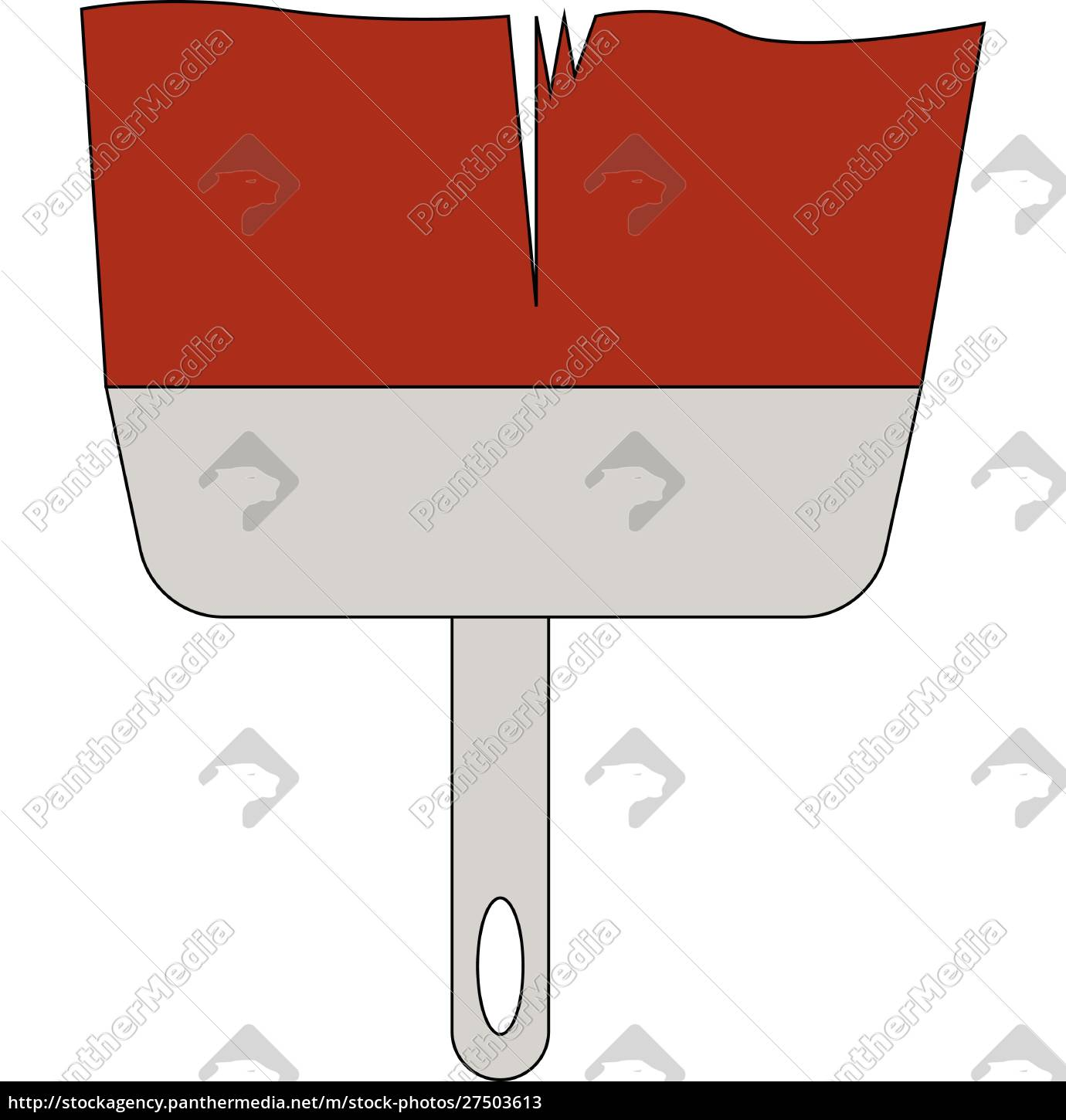 a, big, red, color, paintbrush, for - 27503613