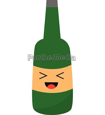 emoji of a smiling green champagne