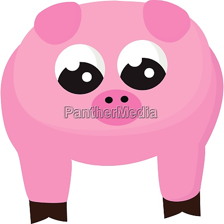 clipart of a cute pig pink