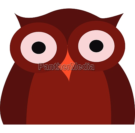 clipart of a dark red owl