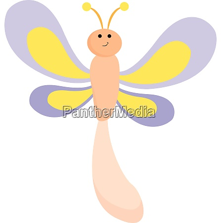 emoji of a smiling dragonfly vector