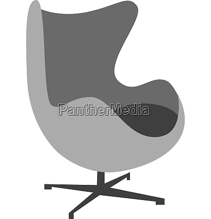 furnituredrawing of a ball chair vector
