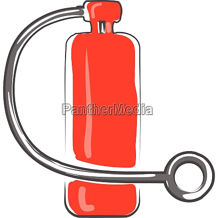 clipart of red colored fire extinguisher