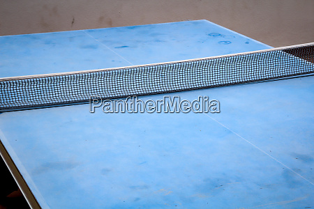 table tennis table in a recreational