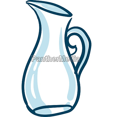clipart of a blue colored glass