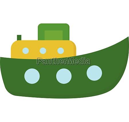 cute cartoon steamboat shipfunnel ship vector