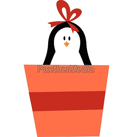 cute baby girl penguin carrying a