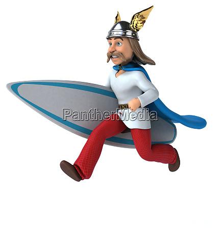 fun 3d gaulois surfer