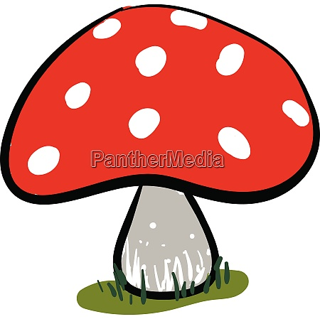 clipart of a red mushroom vector