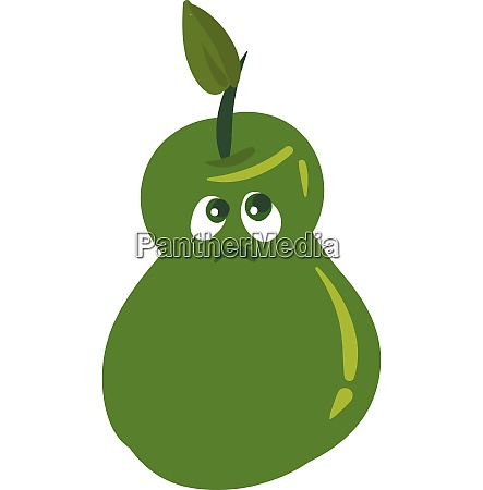 emoji of a sad green colored