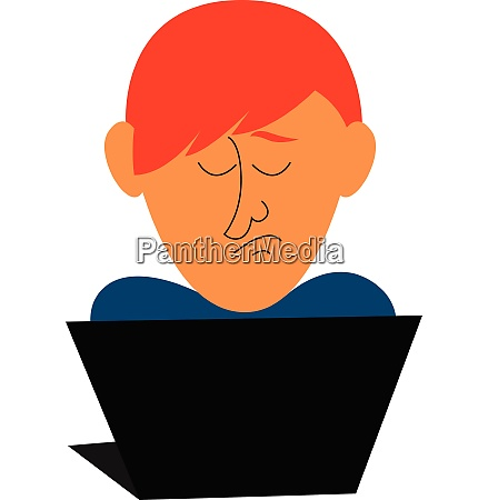 clipart of a sad programmer working
