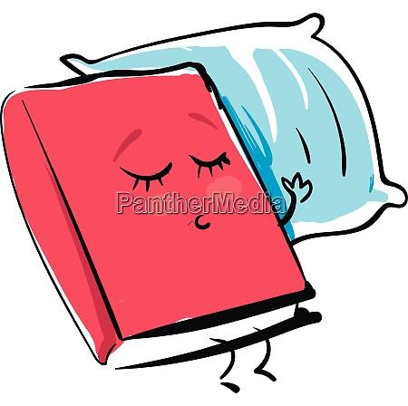 emoji of a red colored book