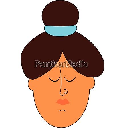 a sad women vector or color