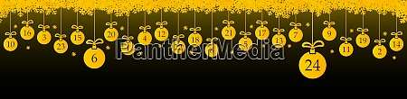 advent calendar 1 to 24 on