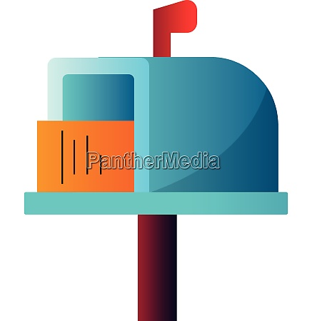 colorful letterbox with letter inside simple
