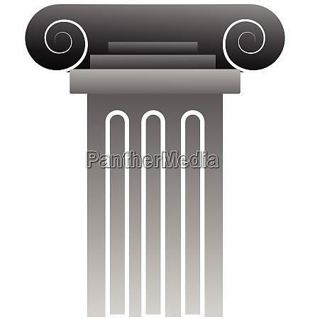 vector illustration of a grey greek