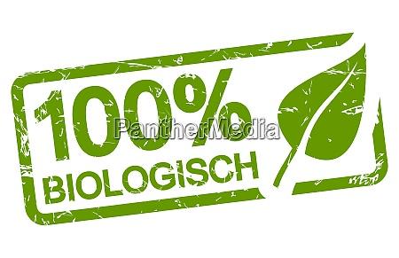 green stamp 100 biological in german