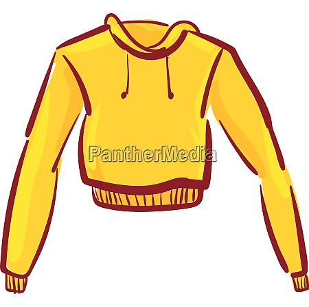 a trendy yellow hoody vector or