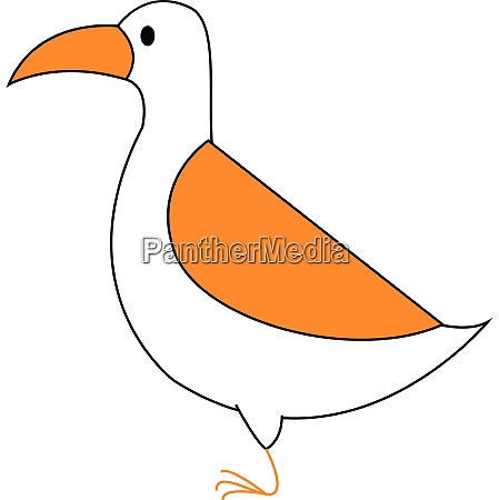 clipart of a white colored bird