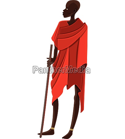 clipart of an african vector or