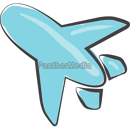 blue colored aircraft vector or color