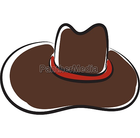 clipart of a brown summer hat