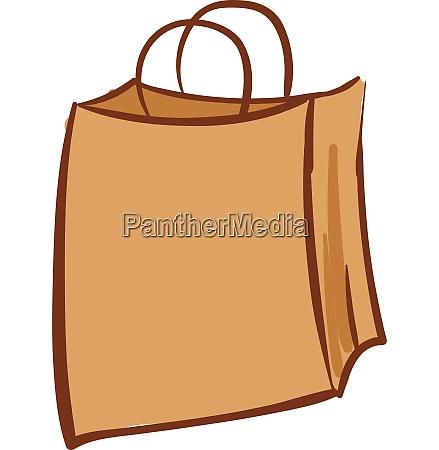 brown paper bag vector or