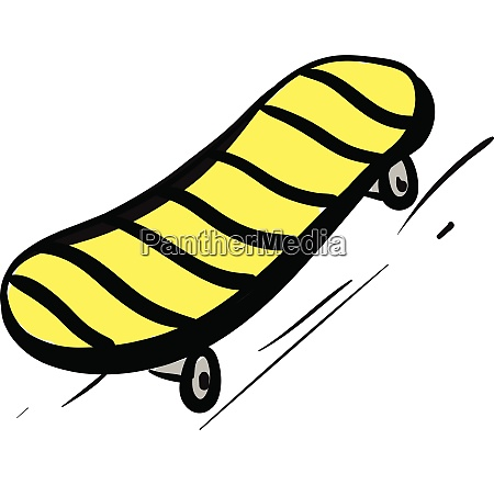 yellow and black skateboard vector