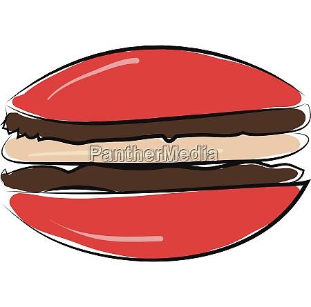 burger hand drawn design illustration vector