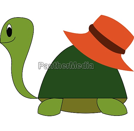 turtle with hat hand drawn design