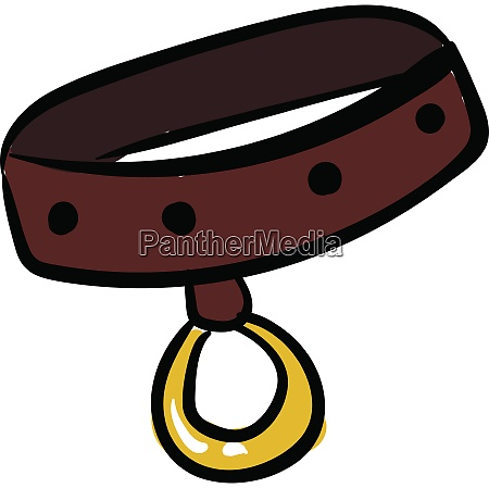 dog collar vector or color
