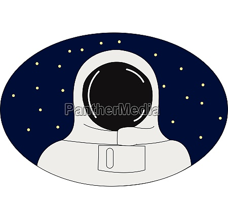 cosmonaut dressed vector or color