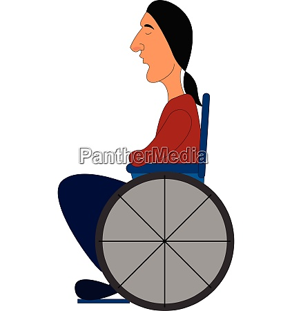 disabled carriage vector or color