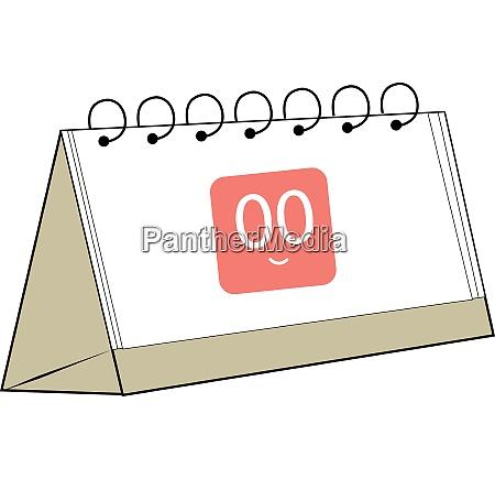 a folded calendar vector or