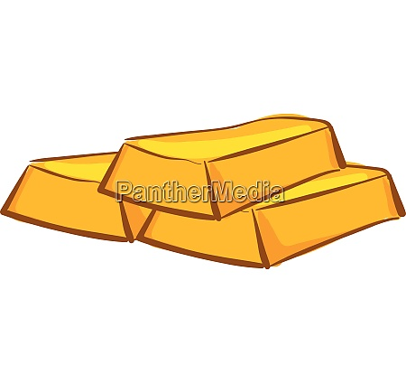 gold bar vector or color
