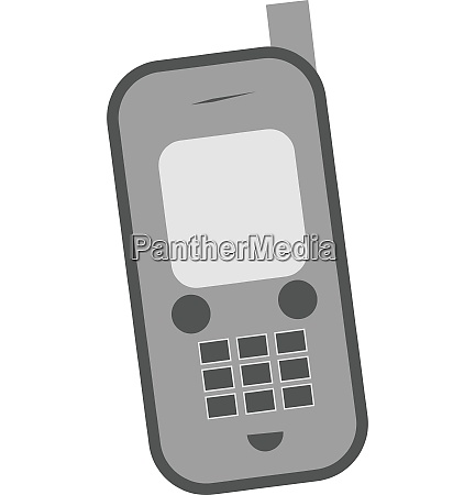happy cellphone vector or color