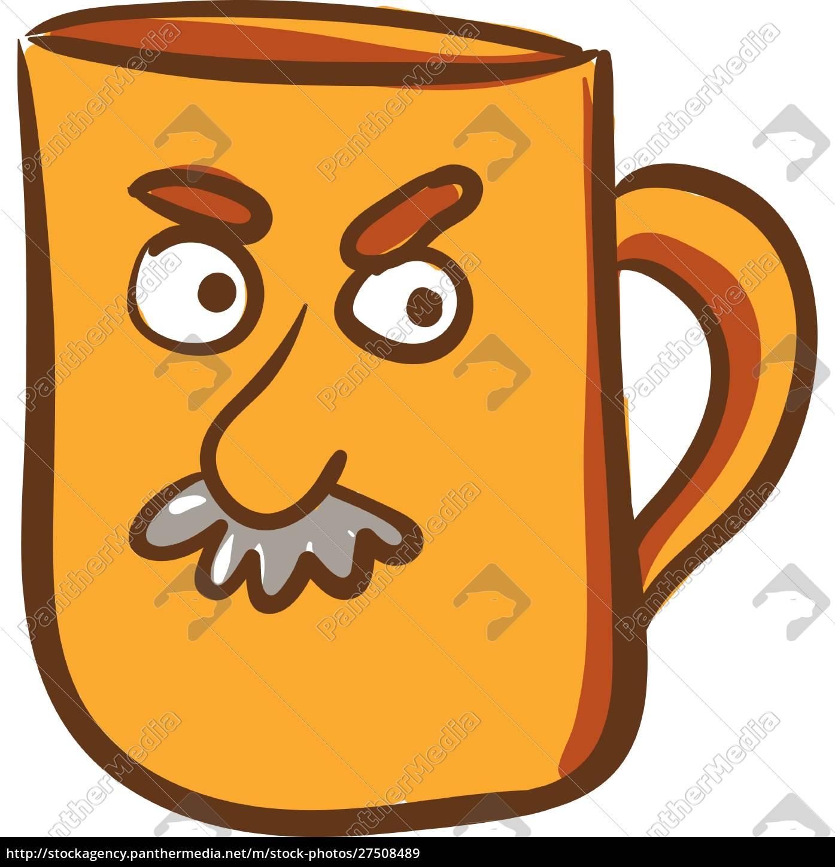 a, yellow, color, mug, with, angry - 27508489