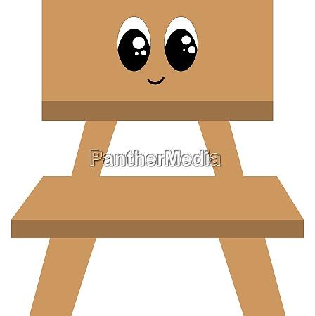 emoji of a cute smiling wooden
