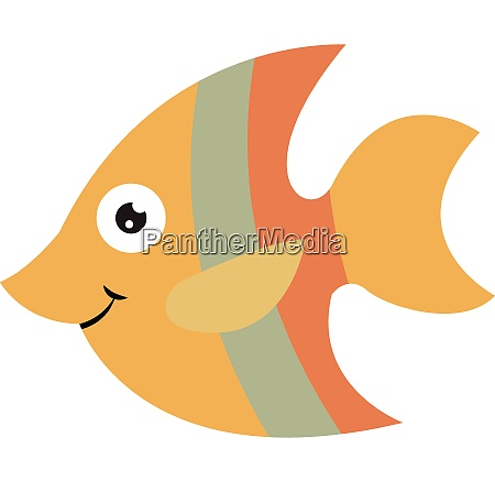 emoji of a smiling orange fishcartoon